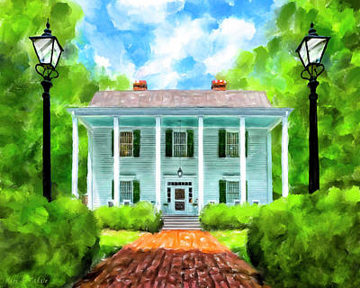 Old Homestead - Smith Plantation - Roswell Georgia Art Print