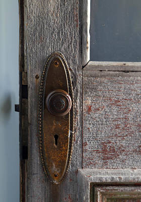 Photograph - Old Hotel Doorknob 2 by Mary Bedy