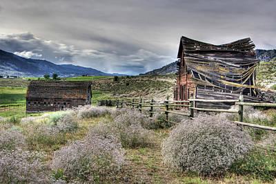 Photograph - Old House And Barn by Doug Matthews