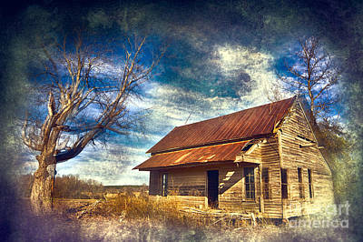 Photograph - Old House And Dramatic Sky Fx by Dan Carmichael