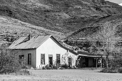 Photograph - Old House And Foothills by SR Green