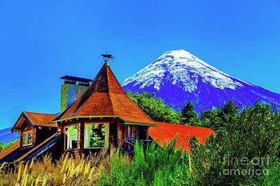 Photograph - Old House And Mountain by Rick Bragan