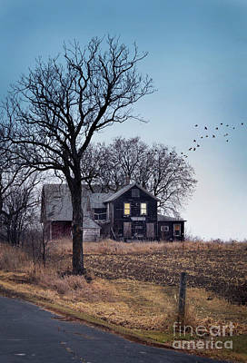 Photograph - Old House In Autumn by Jill Battaglia