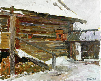 Painting - Old House In Bugrovo by Juliya Zhukova