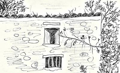 Drawing - Old House In Lanjaron by Chani Demuijlder