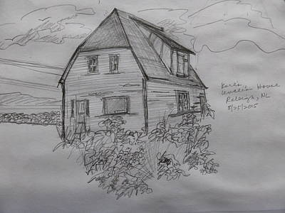 Drawing - Old House In Raleigh by Joel Deutsch