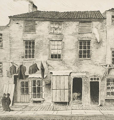 Relief - Old House In Rector Street  by Henry Farrer