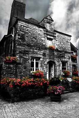 Old House In Rochefort En Terre In Brittany  Art Print by Mark Hendrickson