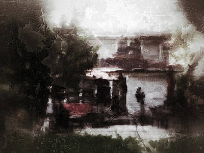 Old Houses Digital Art - Old House Memory by H James Hoff