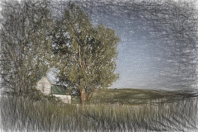 Rural Scenes Digital Art - Old House On The Palouse  II by Jon Glaser