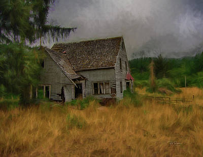Photograph - Old House On The Prairie by Bill Posner