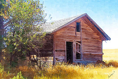 Art Print featuring the photograph Old House by Susan Kinney