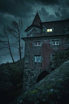 Photograph - Old House Under Stormy Sky by Carlos Caetano