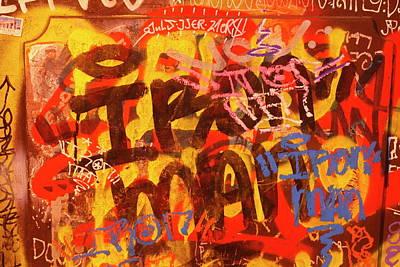 Old House Wall With Graffiti Art Print by Torsten Krueger