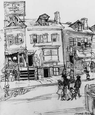 House Drawing - Old Houses, Clinton Street, New York by Jerome Myers