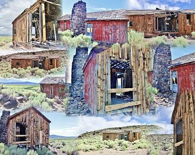 Photograph - Old Houses Collage by Marilyn Diaz