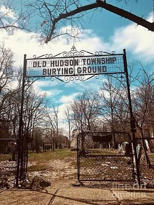 Photograph - Old Hudson Township Burying Ground by Michael Krek