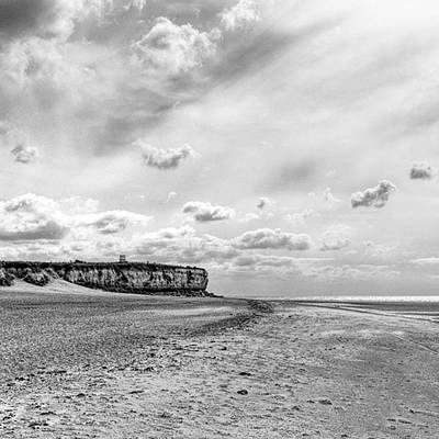 Sky Photograph - Old Hunstanton Beach, Norfolk by John Edwards