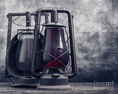 Railroads Photograph - Old Hurricane Lanterns Still Life by Edward Fielding