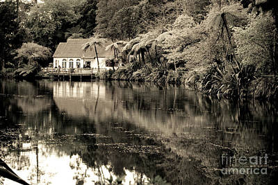 Print featuring the photograph Old Hut By The Bush Lake by Yurix Sardinelly