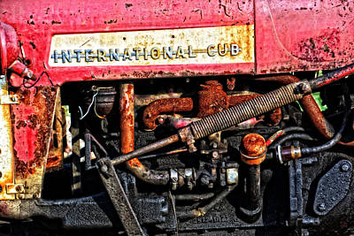 Photograph - Old International Cub Engine by Mike Martin