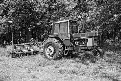 Photograph - Old International Tractor Grayscale by Jennifer White