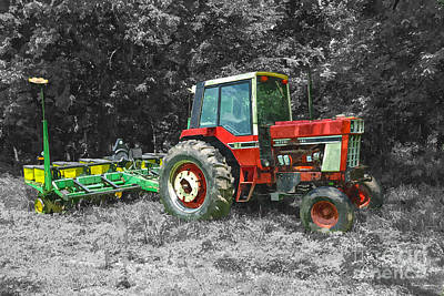 Photograph - Old International Tractor Painterly by Jennifer White