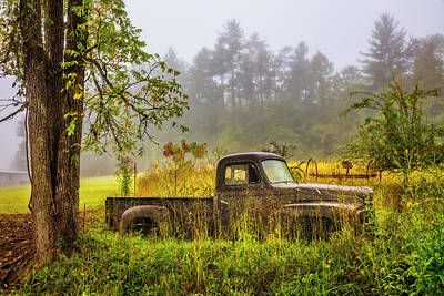 Photograph - Old International Truck At The Farm by Debra and Dave Vanderlaan