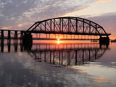 Duluth Photograph - Old Interstate Bridge by Alison Gimpel