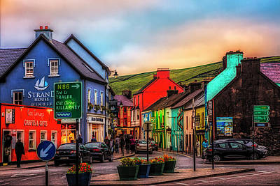 Photograph - Old Irish Town The Dingle Peninsula At Sunset by Debra and Dave Vanderlaan