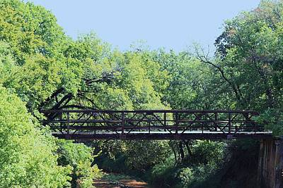 Art Print featuring the photograph Old Iron Bridge Over Caddo Creek by Sheila Brown