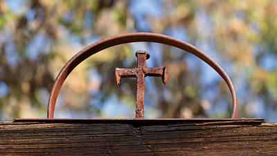 Photograph - Old Iron Cross by Susan Rissi Tregoning