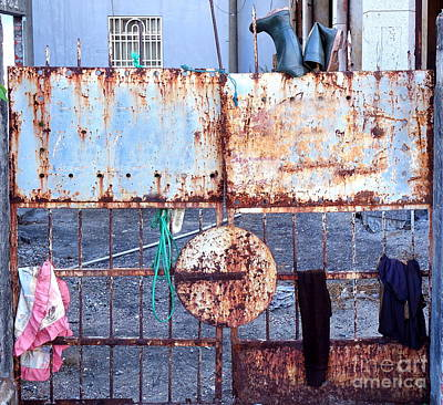Photograph - Old Iron Gate Still Life by Yali Shi