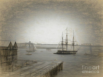 Photograph - Old Ironsides -back In The Day by Scott Cameron