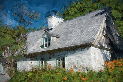 Canadian Culture Painting - Old Island Cottage by Drifting Light