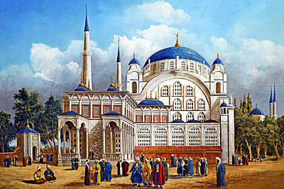 Painting - Old Istanbul City by Munir Alawi