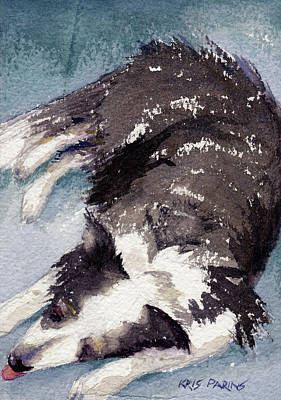 Watercolor Pet Portraits Wall Art - Painting - Old Jack by Kris Parins