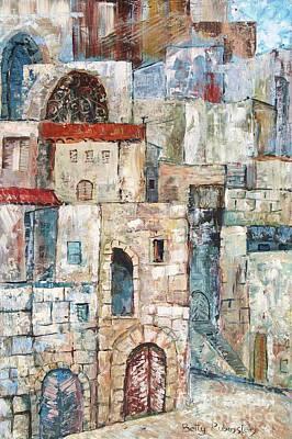 Painting - Old Jaffa-1 by Betty Rubinstein