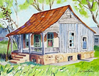 Mike Martin Painting - Old Jail Building by Mike Martin