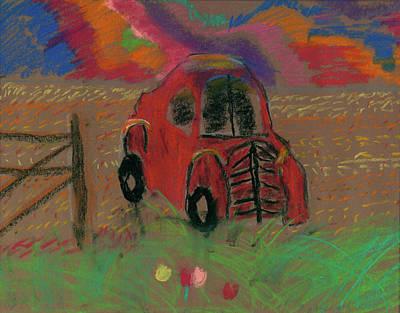 Pastel - Old Jalopy by Devon LeBoutillier