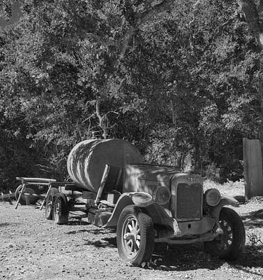 Photograph - Old Jalopy In Black And White by Mary Capriole