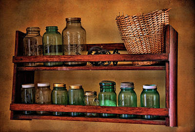 Photograph - Old Jars by Lana Trussell