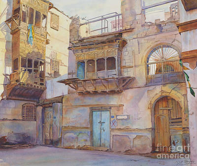 Souq Painting - Old Jeddah by Dorothy Boyer