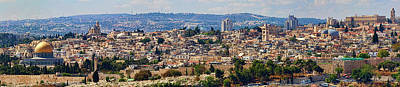 Photograph - Old Jerusalem Panorama by David Smith