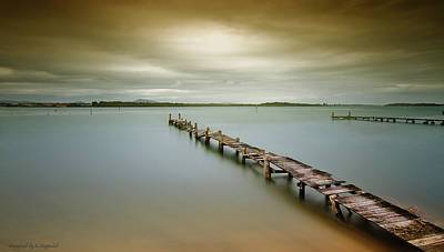 Photograph - Old Jetty 0010 by Kevin Chippindall