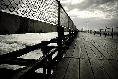 Rough Water Photograph - Old Jetty by Kelly Jade King