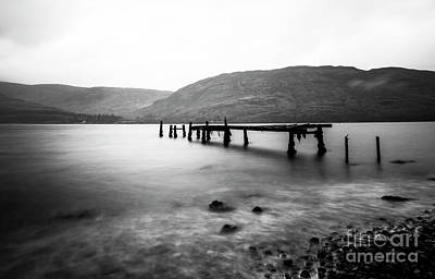Caledonian Canal Photograph - Old Jetty Loch Linnhe by Sebastien Coell