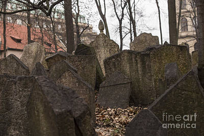 Old Jewish Cemetery In Prague Art Print