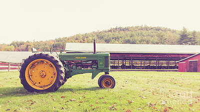 Photograph - Old John Deere 50 Mac Farm Plainfield New Hampshire by Edward Fielding