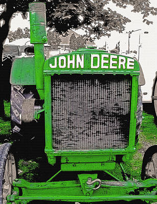 Days Go By Digital Art - Old John Deere Tractor - Utah State Fair by Steve Ohlsen